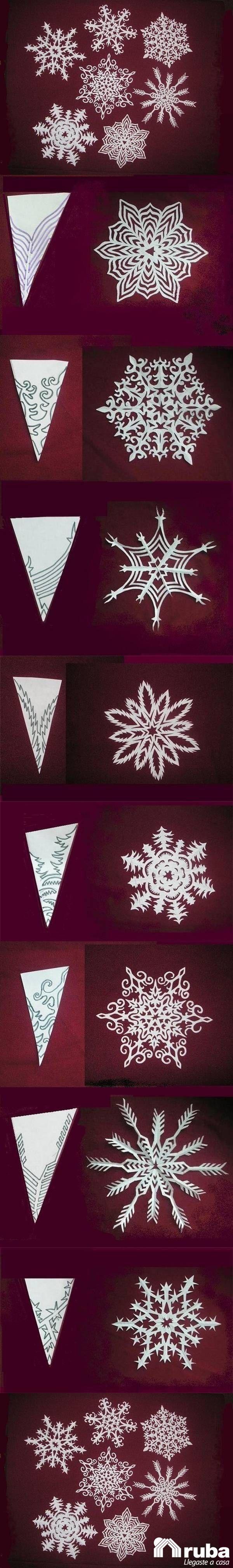 ¡Let it snow, let it snow, let it snow! No te quede sin la oportunidad de llenar tu hogar de nieve con esta sencilla y economica idea, haz tus propios copos de nieve #NavidadConRuba encuentra un estilo diferente y paso a paso en https://lafiestadeolivia.com/blogs/blog/10578529-diy-como-hacer-copos-de-nieve-con-ninos