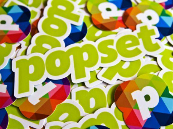 35 Contoh Desain Sticker Sebagai Media Promosi yang Efektif - 26. Popset Stickers by Philipp Wein