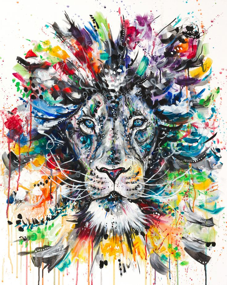 The Psychedelic Lion Print Available