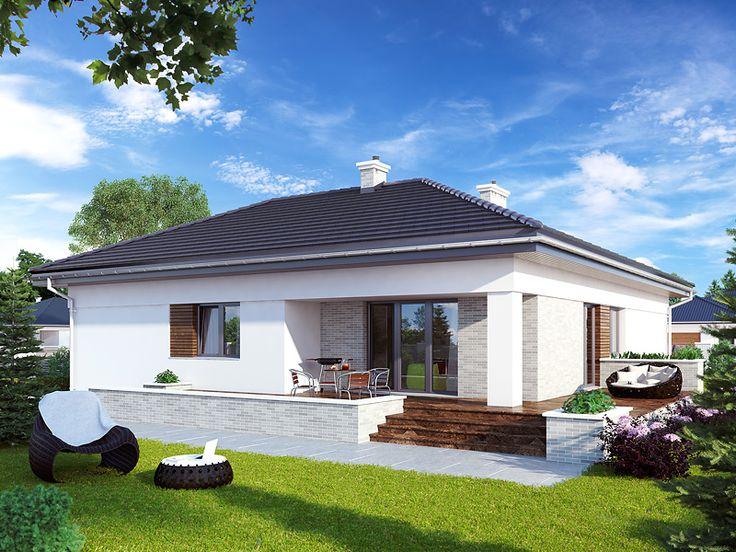 Parterowy projekt domu Atut 3 (103,28). Pełna prezentacja projektu znajduje się na stronie: https://www.domywstylu.pl/projekt-domu-atut_3.php #atut3 #wnetrza #insides #interiors #domywstylu #mtmstyl #projekty #projekt #dom #houses #housedesign #moderndesign #architektura #arcitecture #design #projektygotowe
