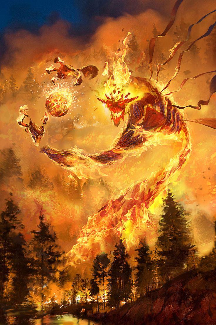 fire demon, Gore Shiring on ArtStation at https://www.artstation.com/artwork/Z0v58