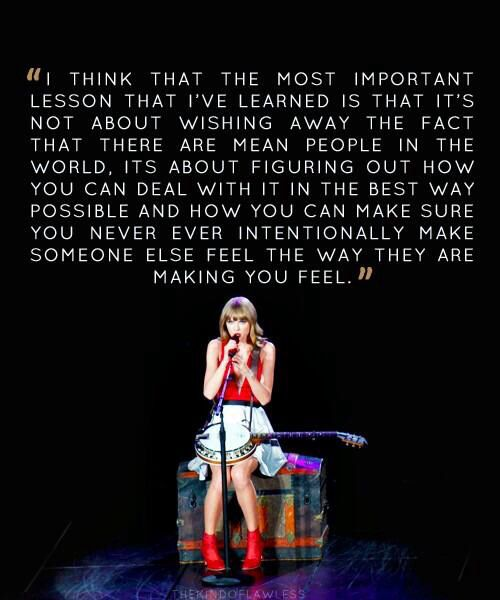 great quote, except some of her songs do exactly what she is speaking out against??