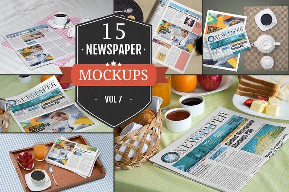 Newspaper Advertising Mockups Vol. 7 by ZippyPixels on Creative Market