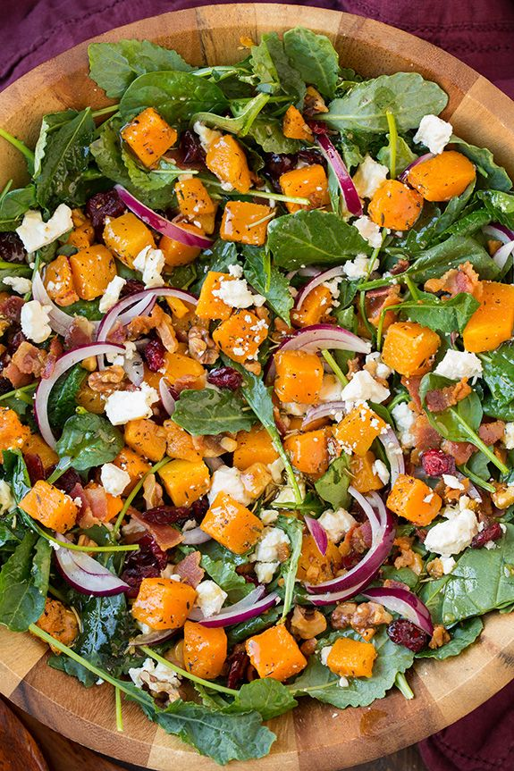 Butternut Squash and Bacon Salad with Maple-Rosemary Vinaigrette - Delish.com