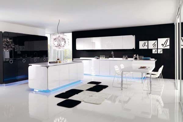 Curved and Balanced Modern Kitchen Design: IT-IS kitchen