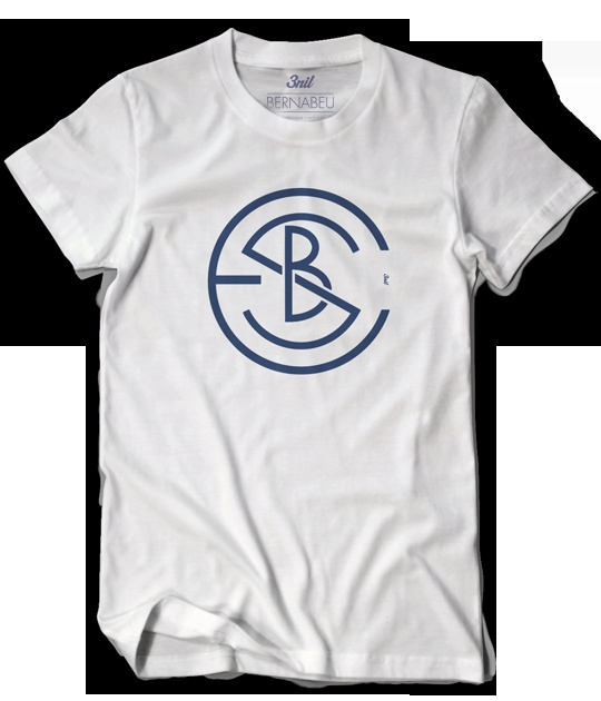 Estadio Santiago Bernabéu. This mecca of world football is featured on this design through a monogram which pays homage to early Real Madrid crests at the same time.
