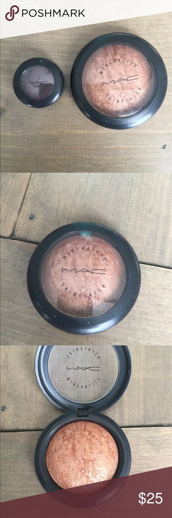 MAC mineralize skin finish Gold Deposit Mac mineralize skin finish in the shade gold deposit and Mac eyeshadow in the shade beauty marked. Both hardly worn. Just wasn't my shade. 100% authentic! MAC Cosmetics Makeup Bronzer