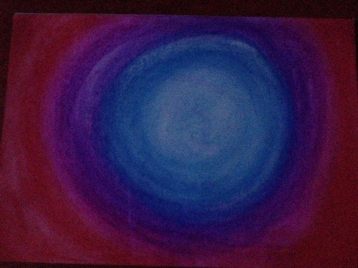 Blauw gat van pastelkrijt