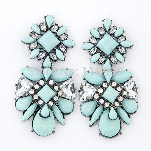 2014 New fashion statement earrings luxury shourouk jewelry pink water drop crystal earrings for woman-in Stud Earrings from Jewelry on Aliexpress.com   Alibaba Group