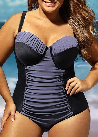 Black Open Back Dot Print Tankini on sale only US$28.64 now, buy cheap Black Open Back Dot Print Tankini at lulugal.com