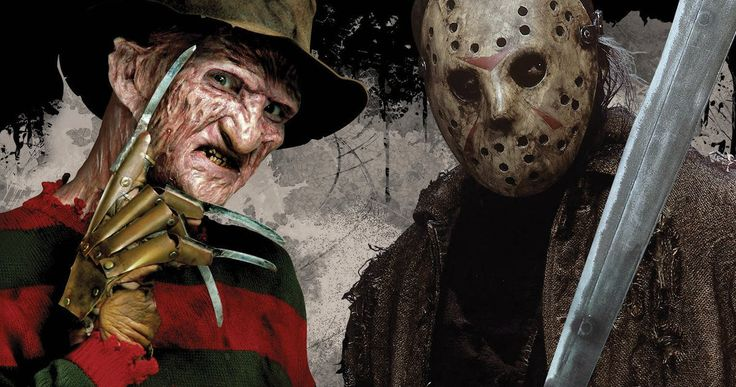 """Freddy Vs. Jason, Michael & Leatherface Set for Universal's Horror Nights 2016 -- The 4 most terrifying names in horror come together at this year's """"Halloween Horror Nights"""" at Universal Studios Hollywood in a trio of all-new slasher-themed mazes. -- http://movieweb.com/freddy-krueger-jason-vorhees-leatherface-halloween-horror-nights-2016/"""