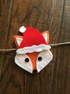 Woodland Fox Christmas Felt Garland