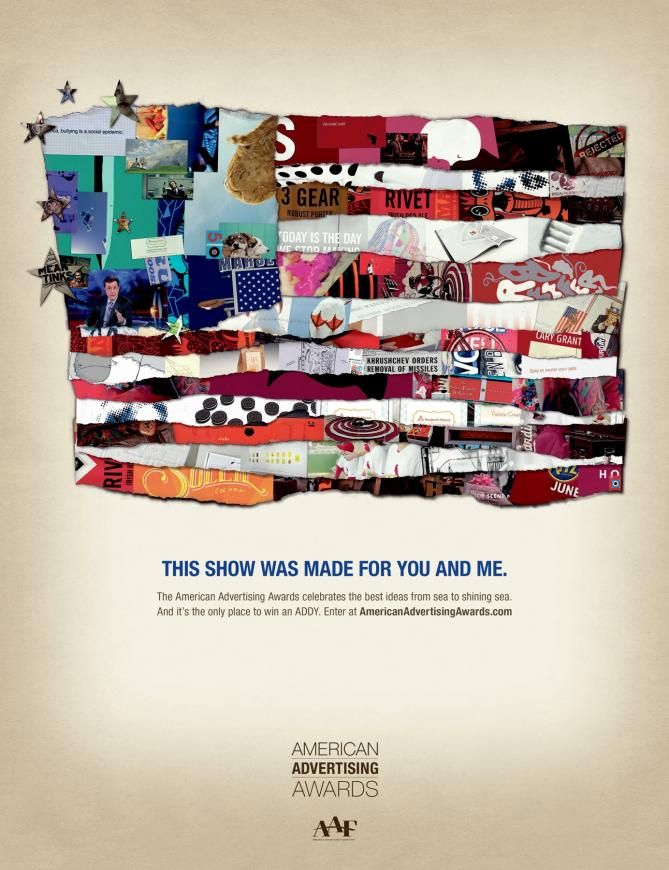 American Advertising Awards: Flag(This show was made for you and me)