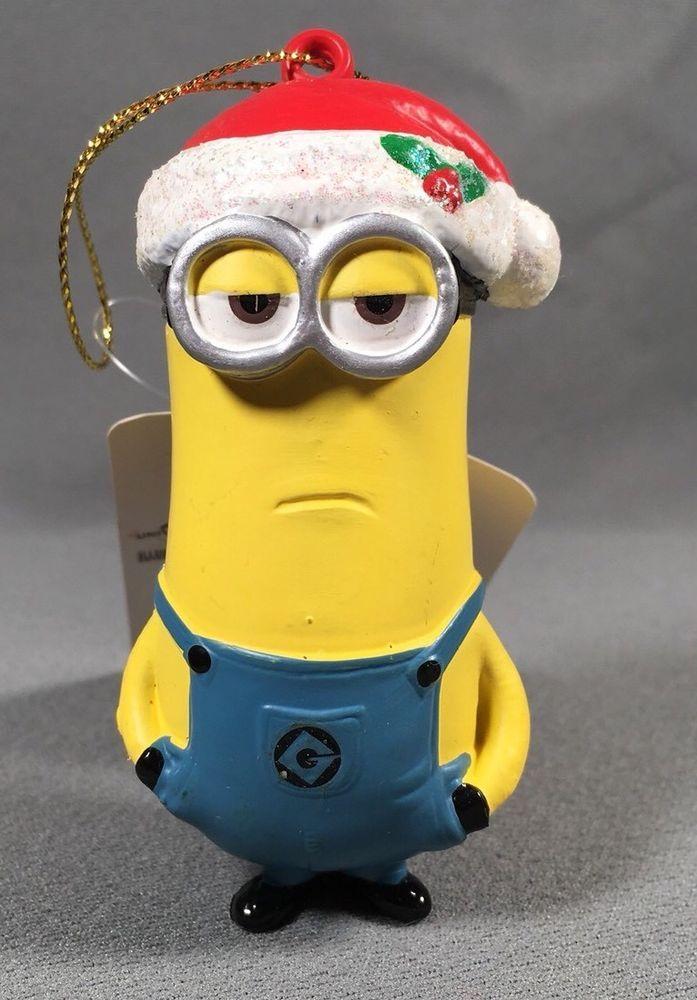 8f11e140c3295 Minion In Santa Hat Christmas Ornament- Kevin Despicable Me  despicableme