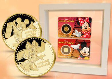 Lahjaidea esimerkiksi häihin:  Viralliset Disney-kultarahat: Sydänkäpyset vailla vertaa - Mikki & Minni Hiiri! | Suomen Moneta  #häälahja