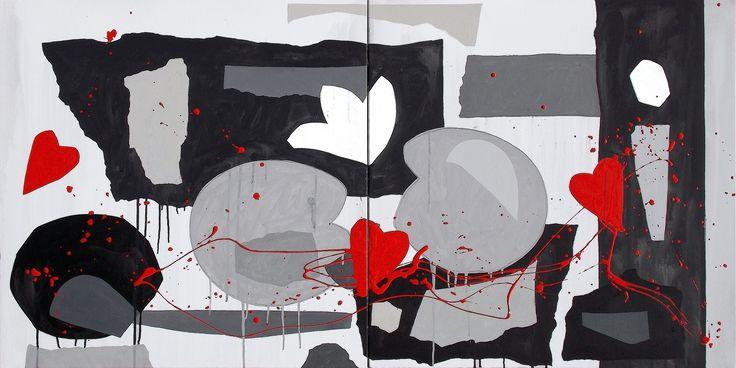 """andrea mattiello """"Ricucire le ferite"""" acrilico e rsmalto su tela cm 140x70; 2015 #andreamattiello #artistaemergente #emergingartist #artecontemporanea #contemporaryart"""