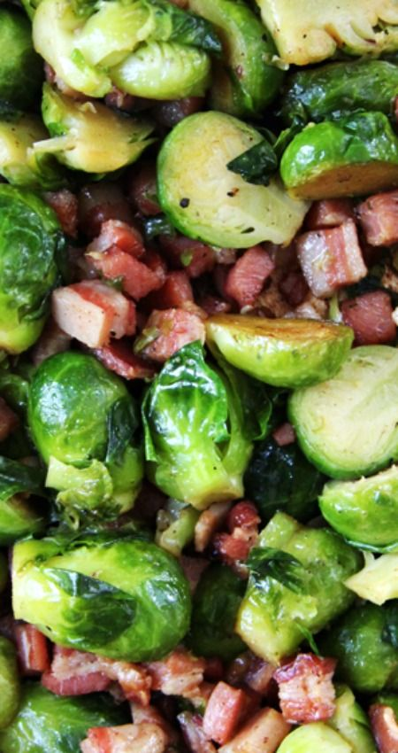 Roasted Brussel Sprouts with Pancetta ~ So. Gosh. Darn. Good.