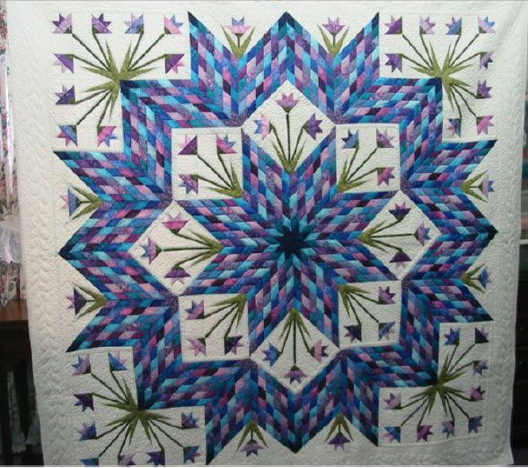 Star Tulip Quilt Quilting Pinterest Quilt Tulip And