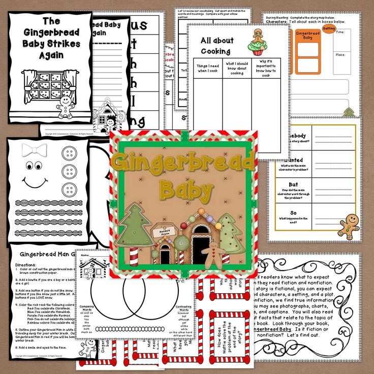 Gingerbread Baby Activities in Digital and PDF 2nd grade