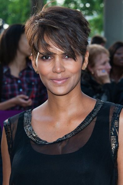 Halle Berry has the cutest hair cuts!  Just cut mine like this!!!