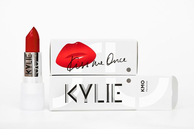 Kylie Minogue has teamed up with Uslu Airlines, a Berlin-based beauty line to create a lipstick in conjunction with her new album, Kiss Me Once.