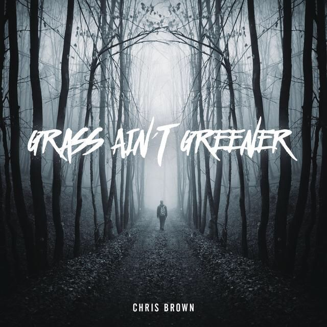 I'm listening to Grass Ain't Greener by Chris Brown on Pandora