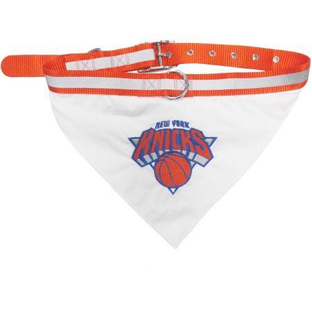 Pets First NBA New York Knicks Pet Bandana, 3 Sizes Available. With Collar