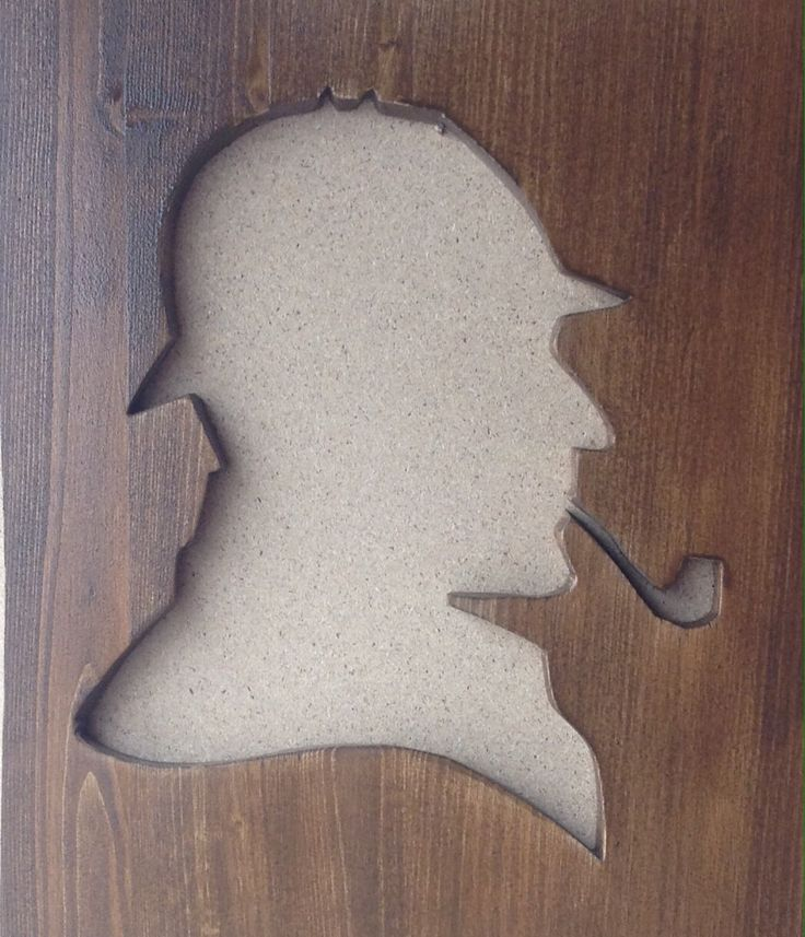 Sherlock holmes wood art diy