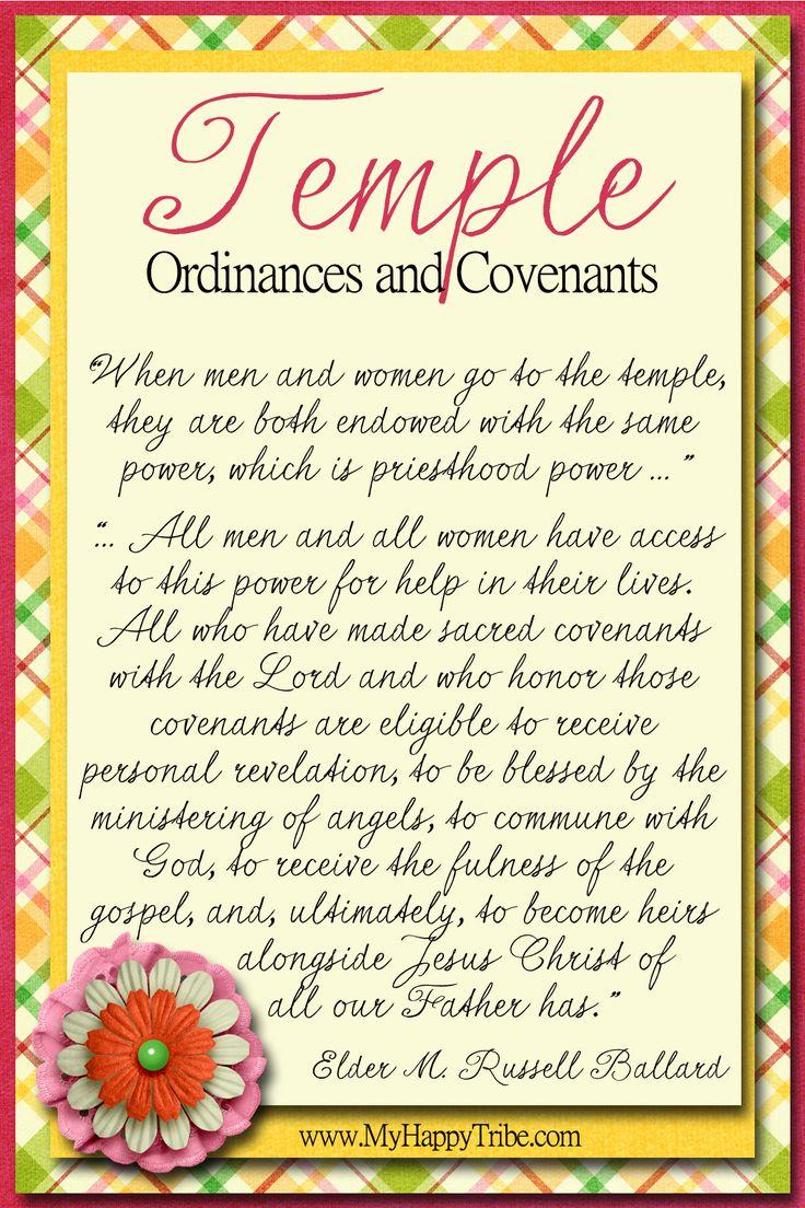 Temple Ordinances and Covenants