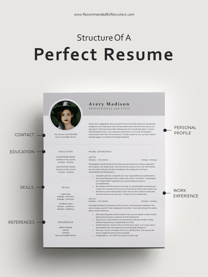 Modern Resume Template With Photo Instant Download Resume Cv