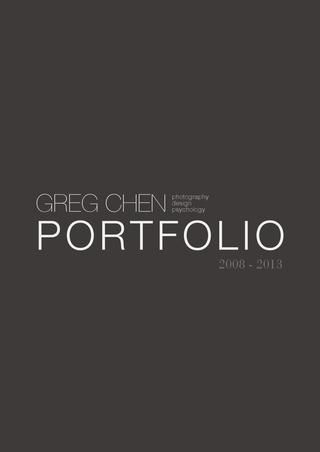 Portfolio design. Probably one of the best I've ever seen.