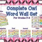 This owl word wall set includes the following:  -6 Bright word wall titles  -3 Sets of letter cards   -Fry Word Cards 100-400    Each card contains owls...