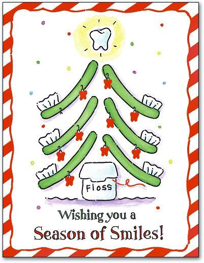 Toothbrush Tree Smile 4-up Laser Card by SmartPractice