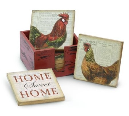 Rooster Coasters: Home U0026 Kitchen