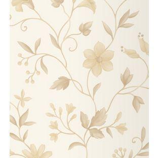 Rasch Nerissa Wallpaper - Beige from Homebase.co.uk