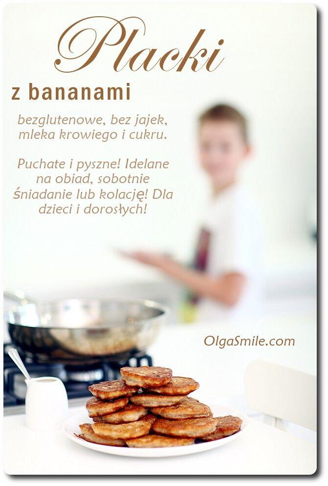 Placki z bananami - przepis Olgi Smile