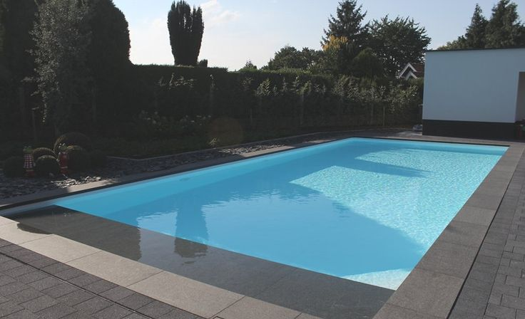 32 best zwembad projecten images on pinterest jacuzzi swimming pools and accessories - Witte pool liner ...