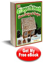 """""""23 Gingerbread House Designs and Recipes"""" eBook"""