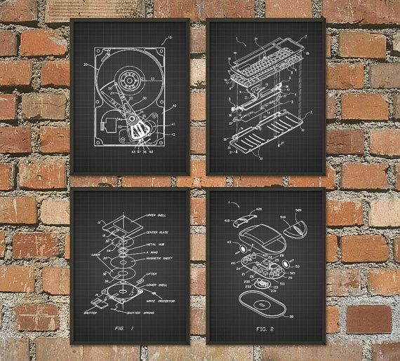 Hey, I found this really awesome Etsy listing at https://www.etsy.com/uk/listing/212929693/computer-geek-wall-art-poster-set-of-4