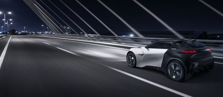 The Peugeot Fractal is perfectly at home in the city.
