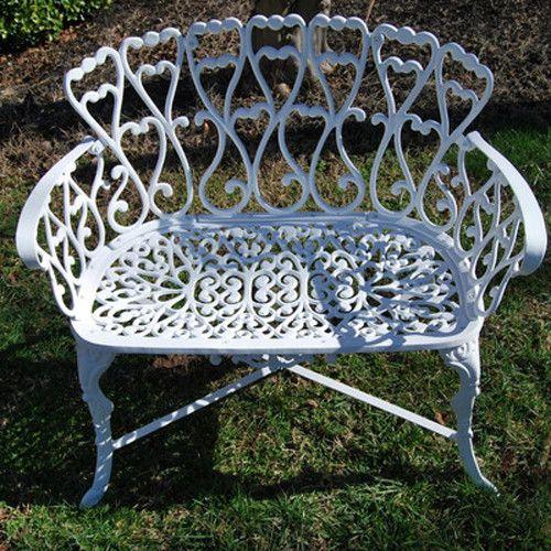$139 Found it at Wayfair - Victorian Cast Aluminum Garden Bench