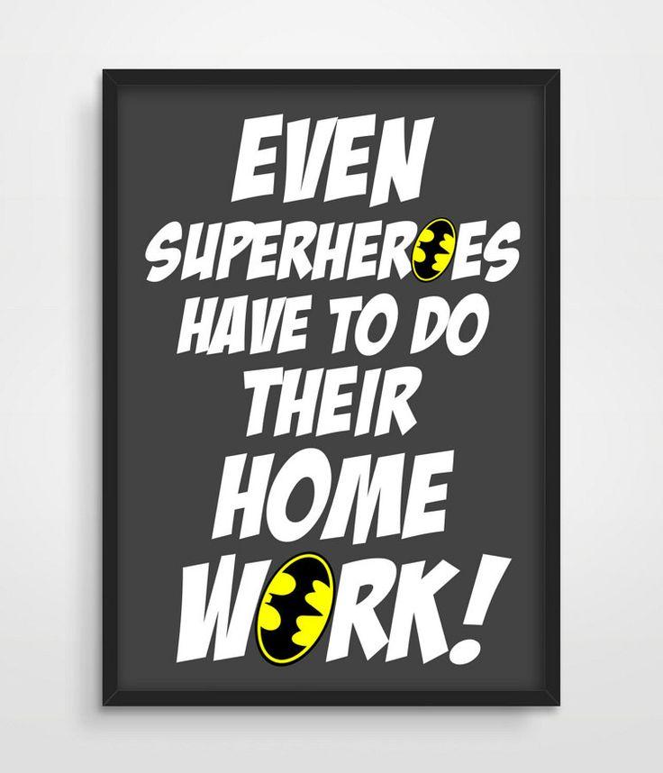 Batman Kids Wall Decor Superhero Art by TheWatermelonFactory