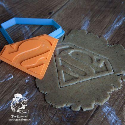 Кухня ручной работы. Ярмарка Мастеров - ручная работа. Купить Супермен -штамп вырубка для печенья и пряников. Handmade. Форма для вырубки