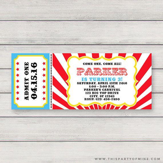 Carnevale di biglietto invito  invito di Circus Party