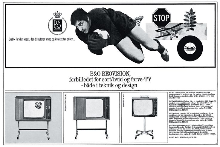 Advertising of Beovision 800/1300 K from 1967