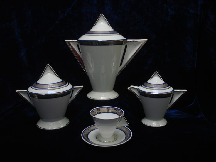 Art deco Limoges porcelain coffee set