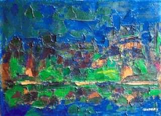 Ennio Morlotti - Paesaggio dell'Adda - 1957