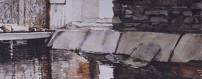 Giorgos saltaferos, ANDROS,watercolor on paper 2012