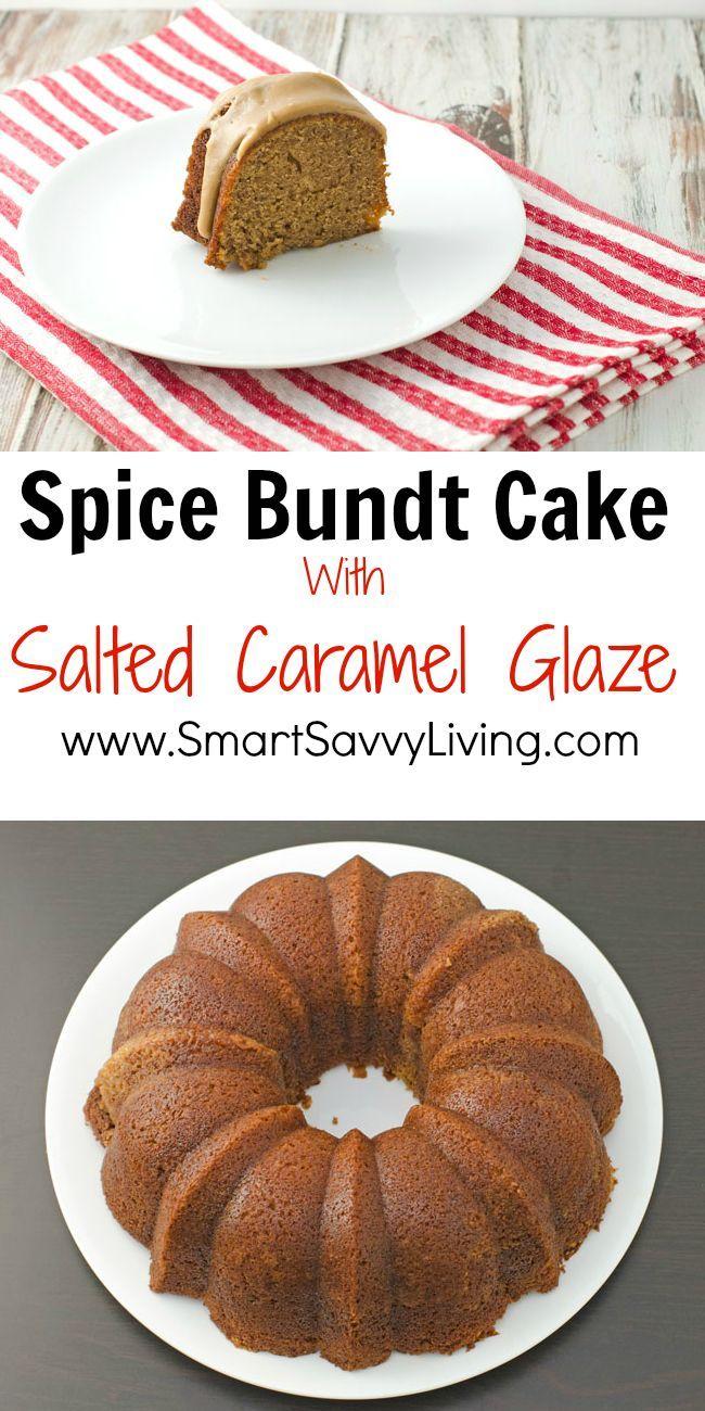 Pumpkin Spice Bundt Cake With Salted Caramel Sauce Recipe — Dishmaps