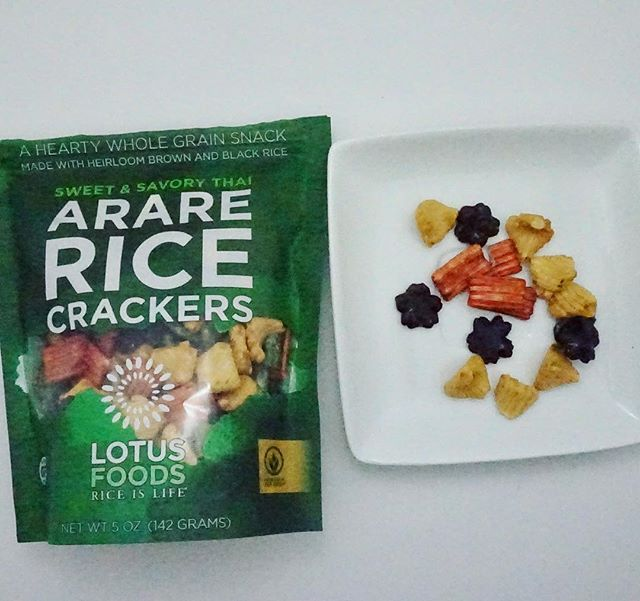 Asian rice crackers made with gluten free soy sauce! Lotus Foods Arare rice crackers in sweet and savoury Thai. Baked, organic and full of flavour. Follow my account as I post all of the gluten free products I find. Don't forget I do taste testings on YouTube too!  @lotusfoods